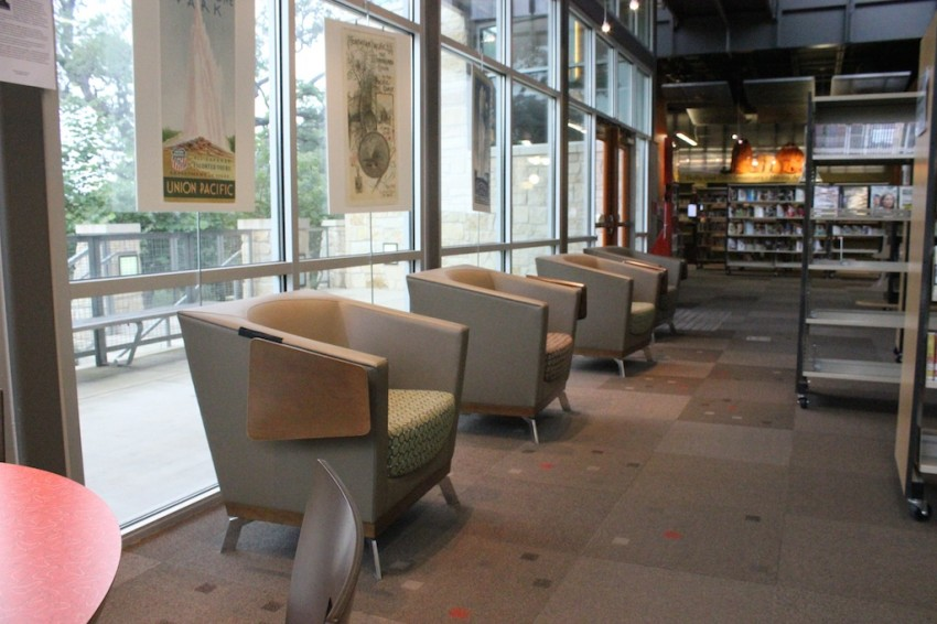 Seating_Patrick Heath Public Library. Boerne Texas-